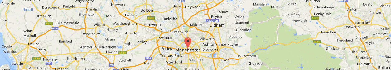 Map of Manchester & north west