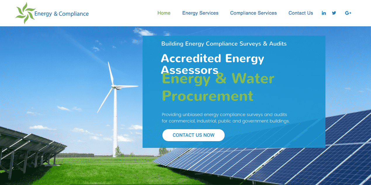 Energy consultant website