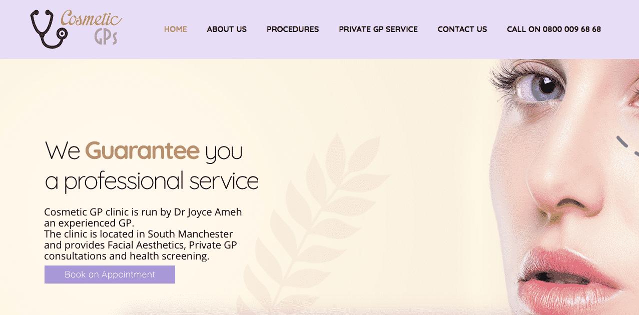 private GP clinic website Didsbury