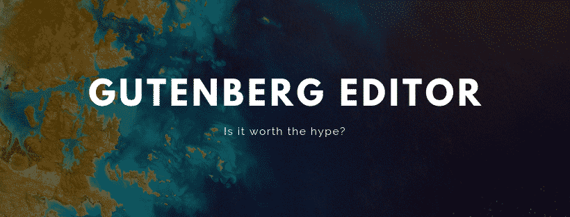 Gutenberg editor for wordpress