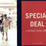 Special deal poster and shoppers