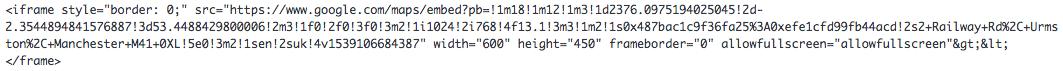 google iframe code