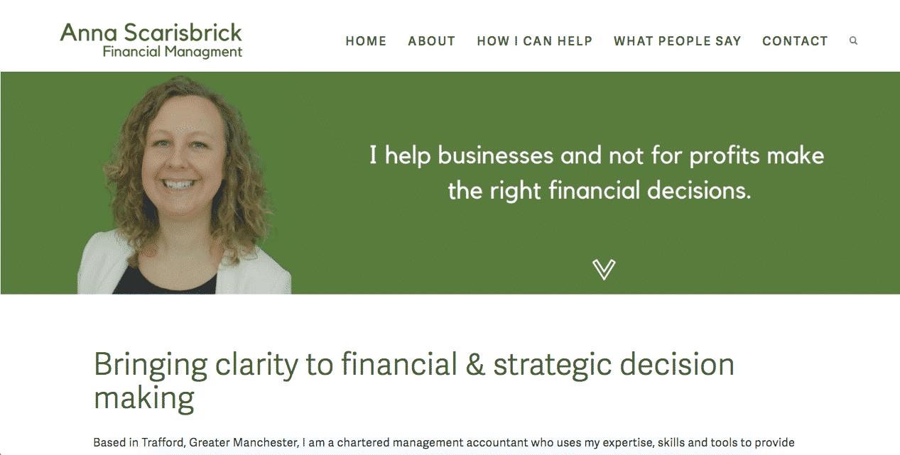 Anna Scarisbrick Financial Management, Trafford
